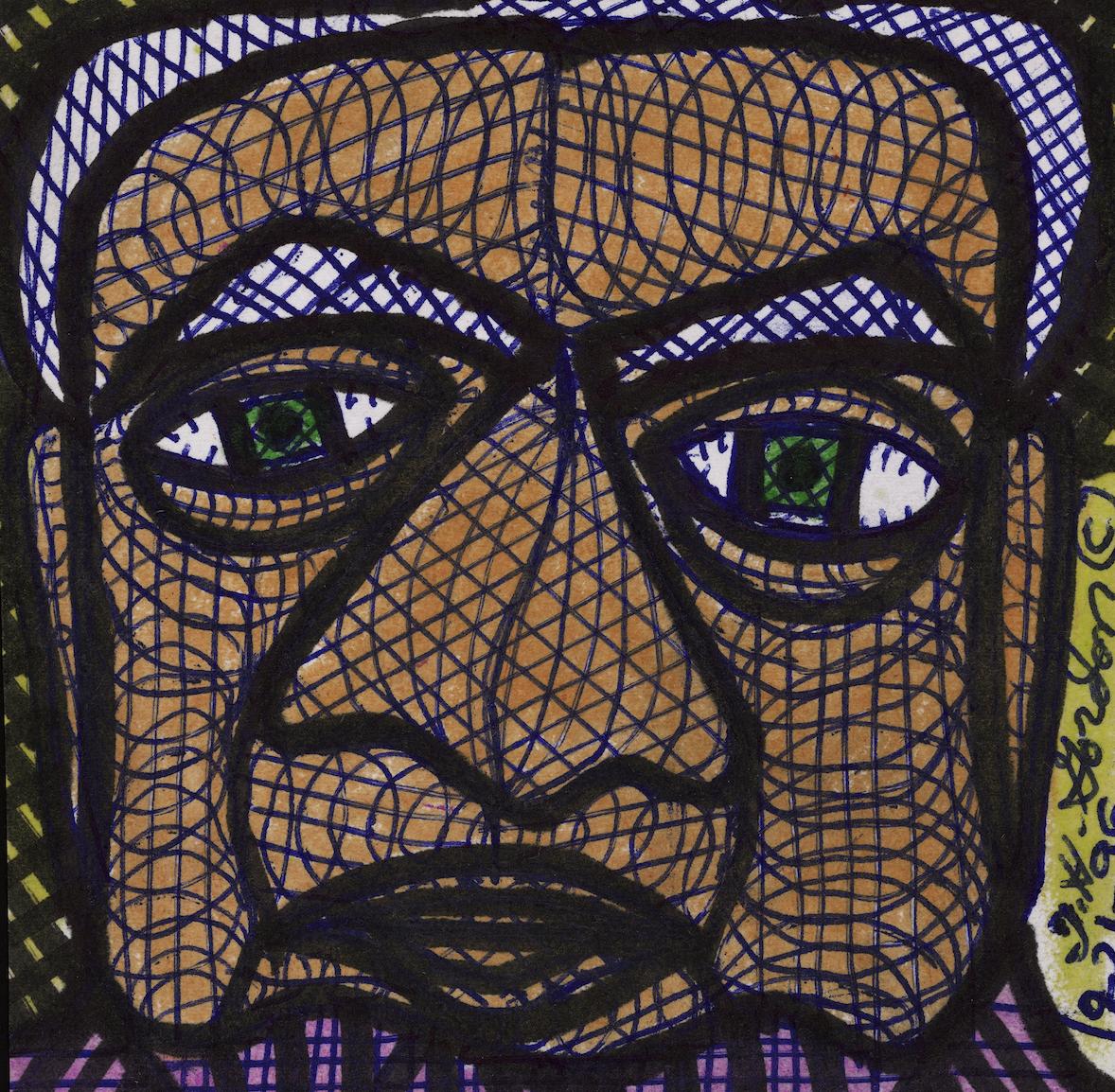 Foyer De L Art Brut : Notes d art brut le visage dans l