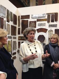 Bianca Tosatti dans l'exposition consacrée à Schulthess au MAI Museo en 2013.