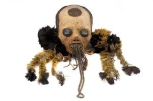 Crâne séché Mundurucu. Musée du Quai Branly, Paris