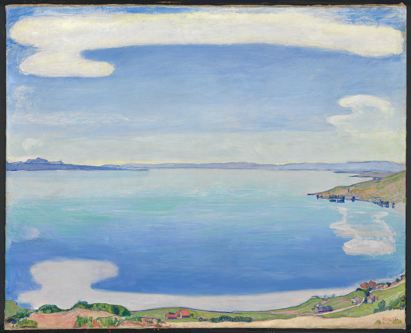 Ferdinand Hodler, Le Léman vu de Chexbres, vers 1904, huile sur toile, 81 x 100 cm, collection Christoph Blocher © SIK-ISEA, Zurich / Photo : Philipp Hitz