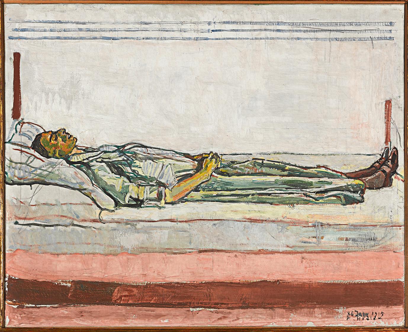 Ferdinand Hodler, Valentine Godé-Darel sur son lit de mort, 1915, huile sur toile, 65,5 x 81 cm, collection Rudolf Staechelin © Archives Jura Brüschweiler, Genève / Pierre Montavon