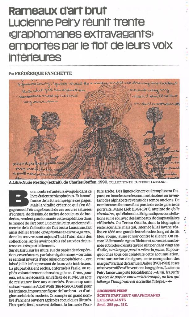 Article de Libération, paru le 11.12.2020