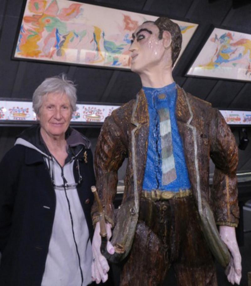 Giovanna Marini visite<br/>la Collection de l'Art Brut