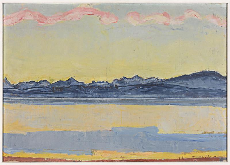 La rive, le lac, les montagnes, le ciel… Horizontalité et parallélisme