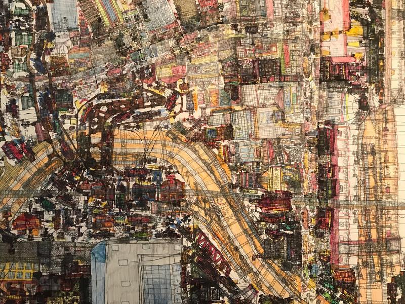 Vision urbaine vertigineuse