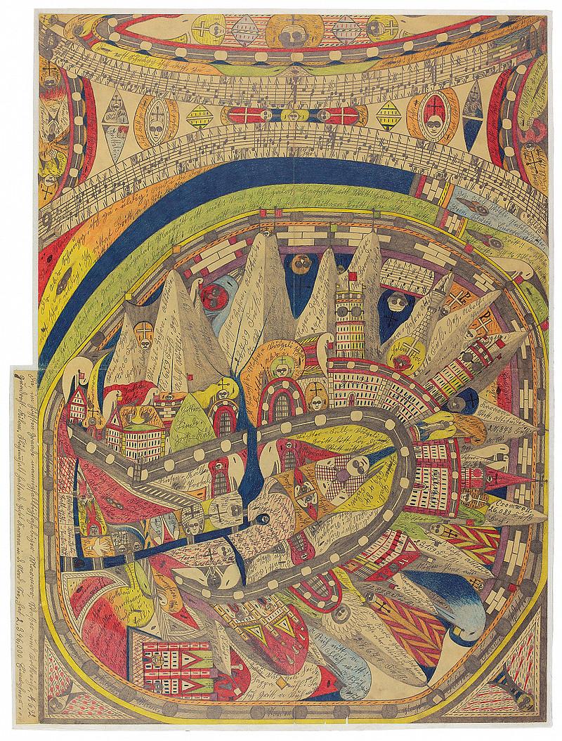 Dessin, prose, poésie, musique, collage: Wölfli réinvente le monde