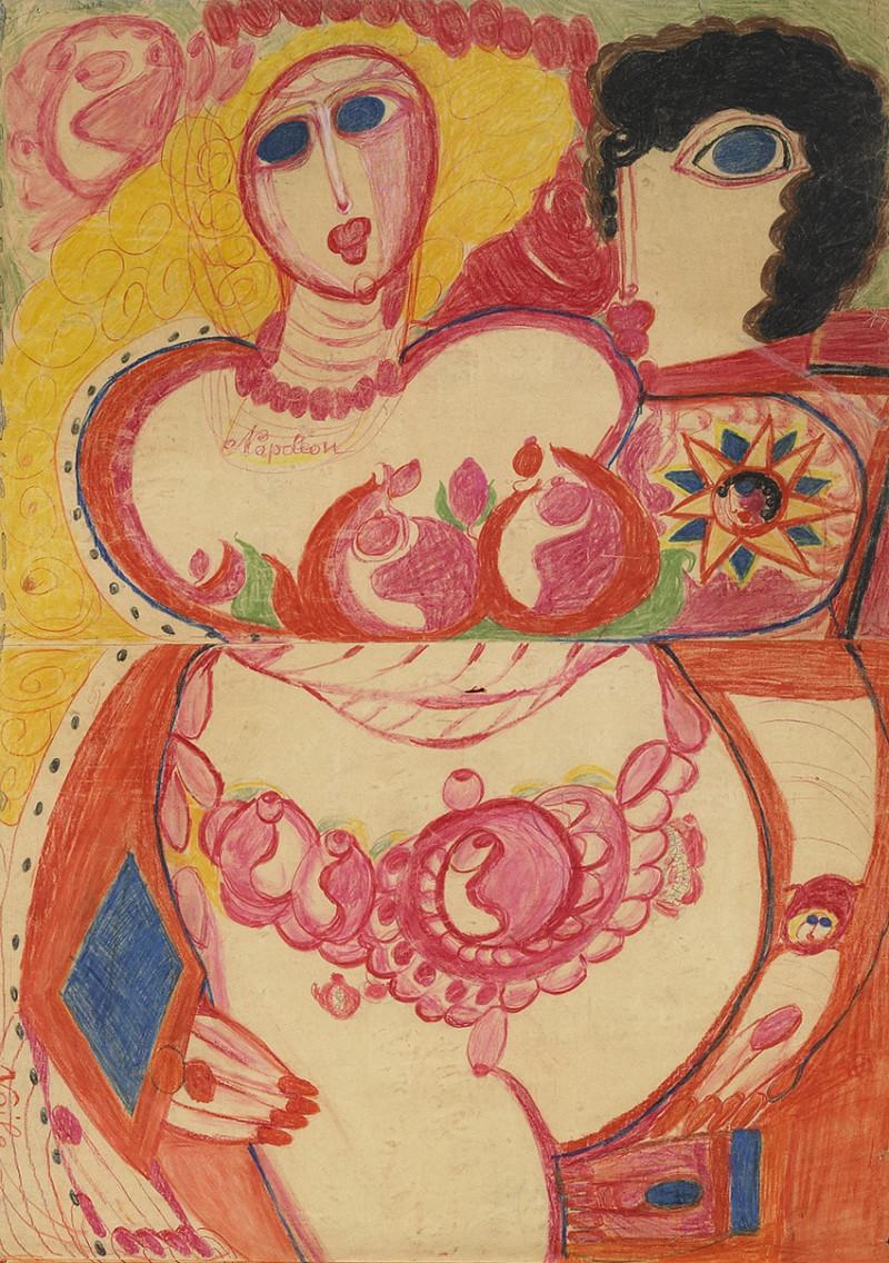Les seins dans les œuvres<br/>d'Art Brut