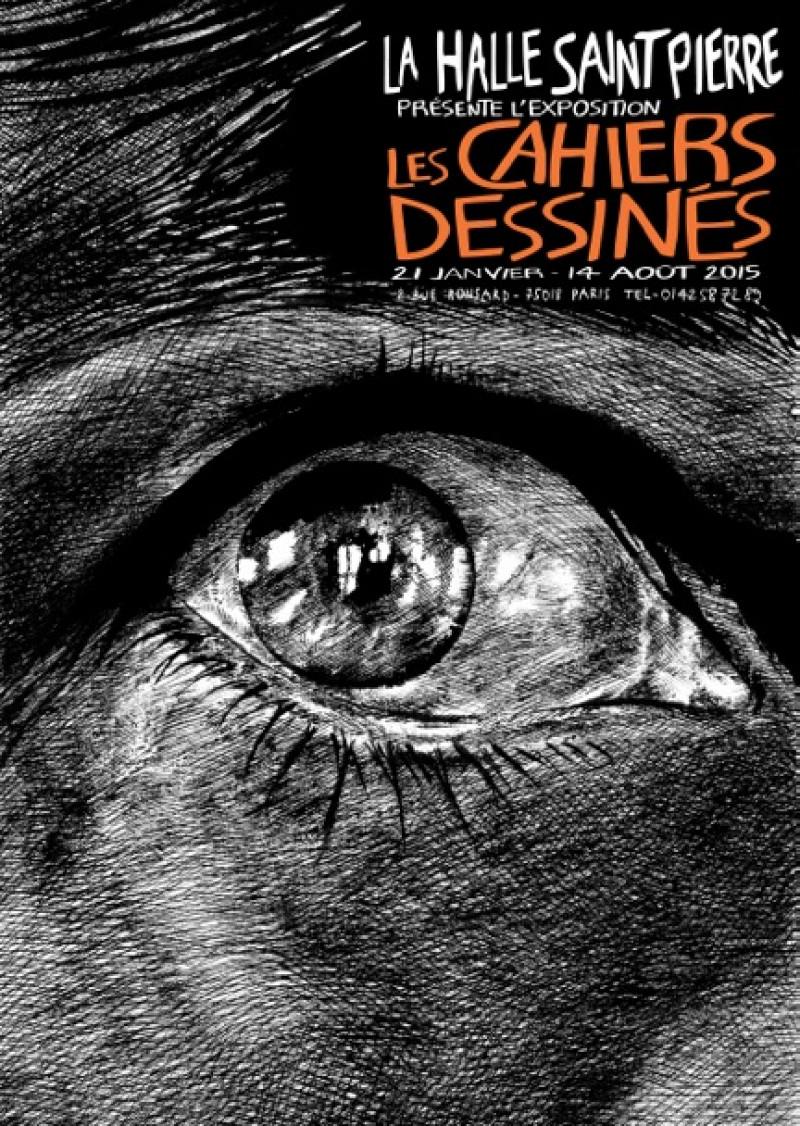 Exposition sur les Cahiers dessinés à la Halle Saint-Pierre, Paris